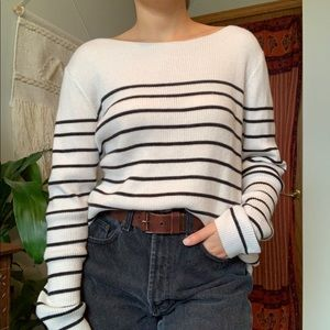 Long sleeve stripped sweater / Gap